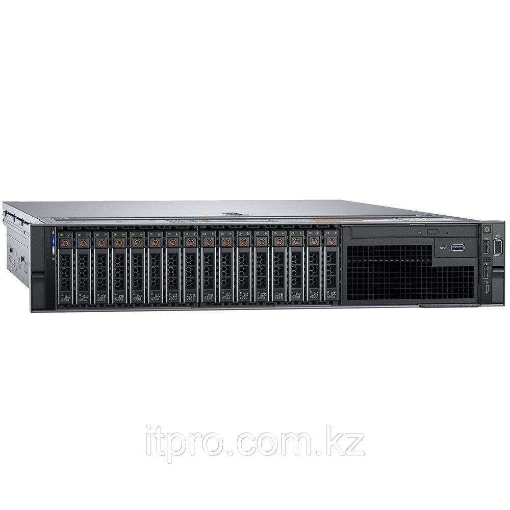 Сервер Dell PowerEdge R740 PER740RU2-06 (2U Rack, Xeon Silver 4210R, 2400 МГц, 10 ядер, 13.75 MБ, 24x 32 ГБ,