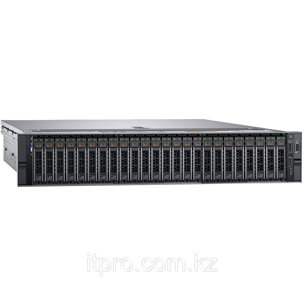 Сервер Dell PowerEdge R740XD 210-AKZR-232 (2U Rack, Xeon Gold 5215, 2500 МГц, 10 ядер, 13.75 MБ, 16x 32 ГБ,