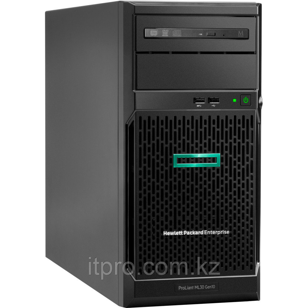 "Сервер HPE ProLiant ML30 Gen10 P16929-421 (Tower, Xeon E-2234, 3600 МГц, 4 ядра, 8 МБ, 1x 16 ГБ, LFF 3.5"", 4"