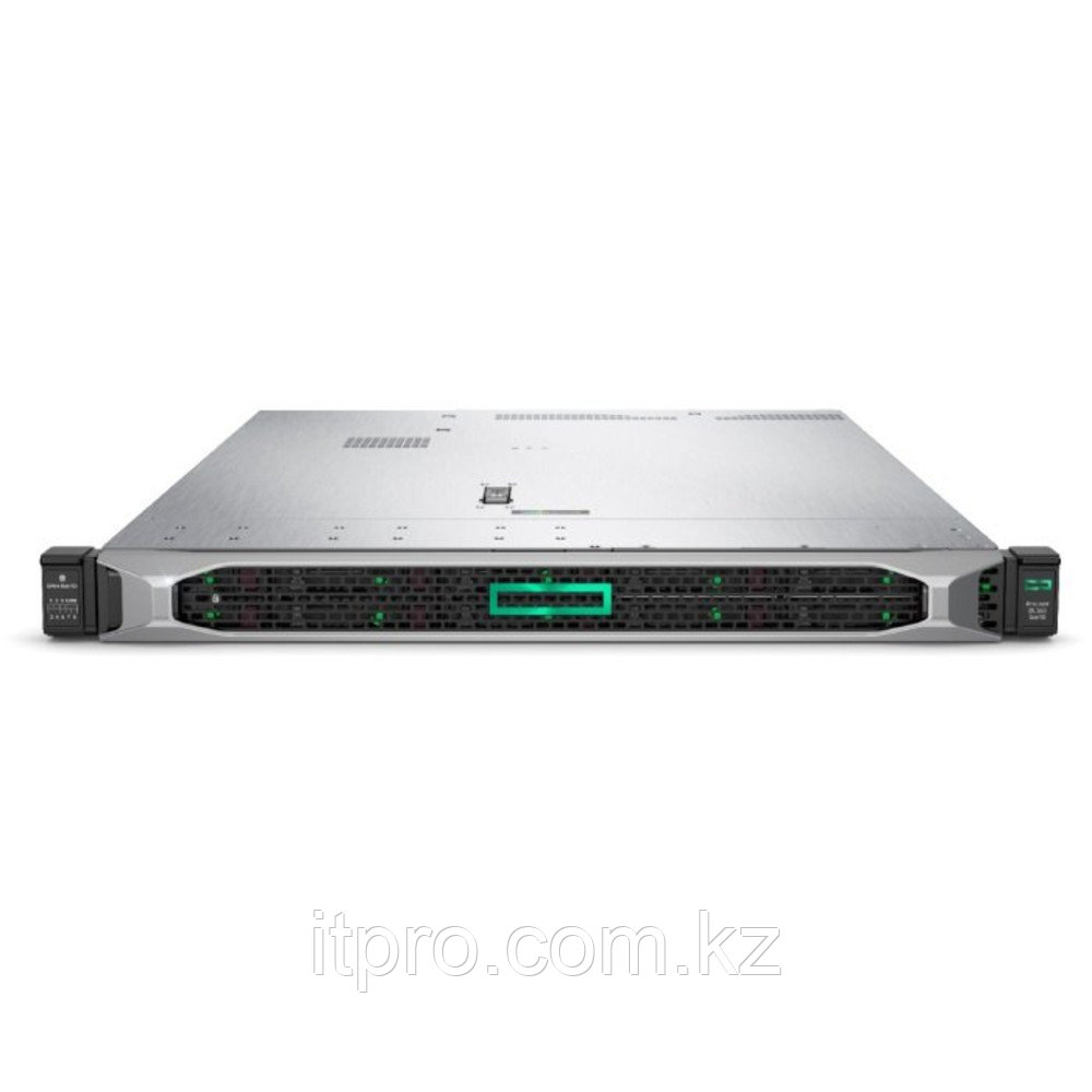 Сервер HPE ProLiant DL360 Gen10 P19779-B21 (1U Rack, Xeon Silver 4210, 2200 МГц, 10 ядер, 13.75 MБ, 1x 16 ГБ,