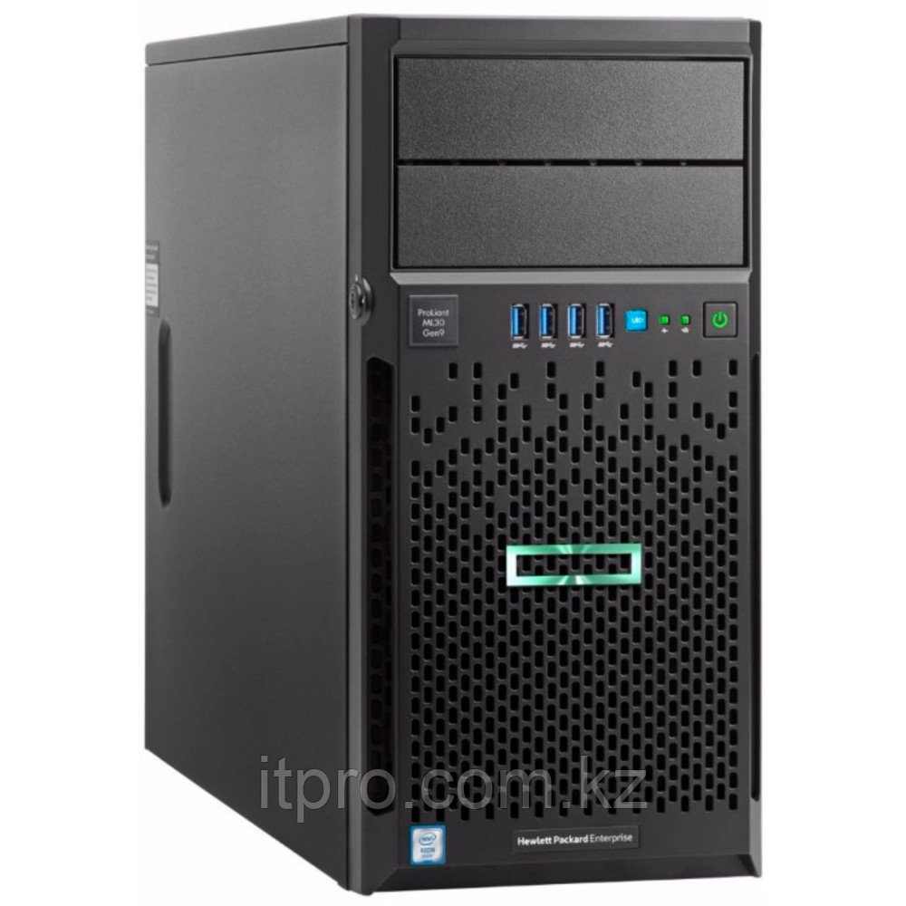 "Сервер HPE ProLiant ML30 Gen9 P03704-425 (Tower, Xeon E3-1220 v6, 3000 МГц, 4 ядра, 8 МБ, 1x 8 ГБ, LFF 3.5"", 4"