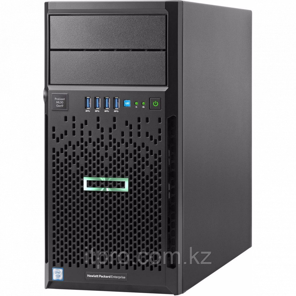 Сервер HPE ProLiant ML30 Gen9 872658-421 (Tower, Xeon E3-1220 v6, 3000 МГц, 4 ядра, 8 МБ)
