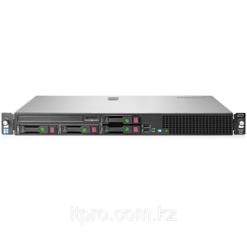 Сервер HPE ProLiant DL20 Gen9 823559-B21 (1U Rack, Xeon E3-1240 v5, 3500 МГц, 4 ядра, 8 МБ)