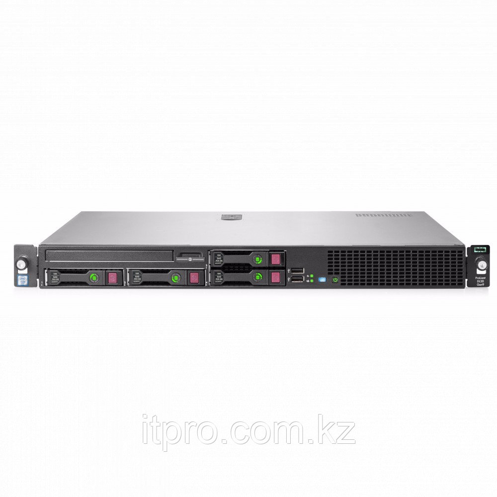 Сервер HPE ProLiant DL20 Gen9 871431-B21 (1U Rack, Xeon E3-1240 v6, 3700 МГц, 4 ядра, 8 МБ)