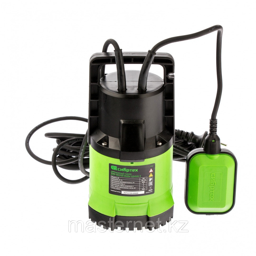 Дренажный насос для чистой воды СДН500-5, 500 Вт, напор 8 м, 8000 л/ч// Сибртех - фото 2