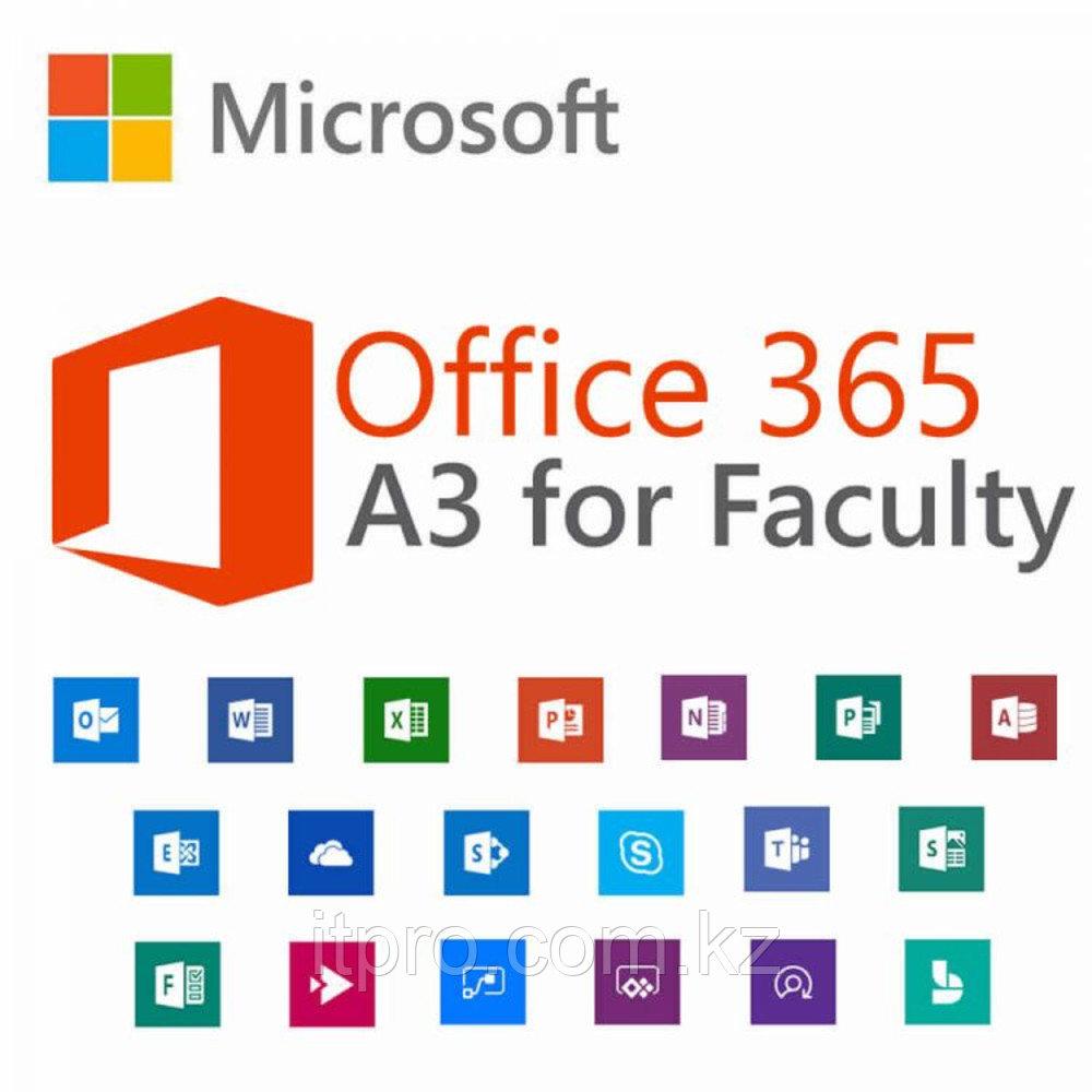 Офисный пакет Microsoft Office 365 A3 for faculty 7eb5101b-Y