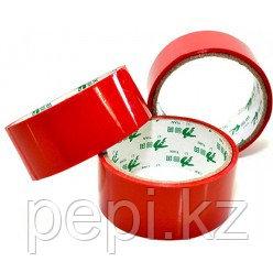 Скотч красного цвета 4,5 см x 0,3 см 15 метров