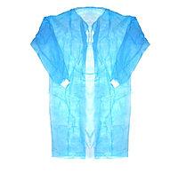 Хирургический одноразовый халат пл.25 гр/м2, рукава на манжете
