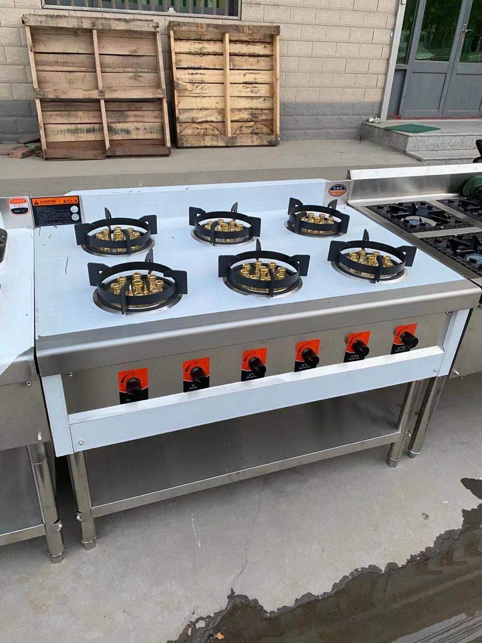 Газовая плита производственная 6 конфорочная Высокие конфорки