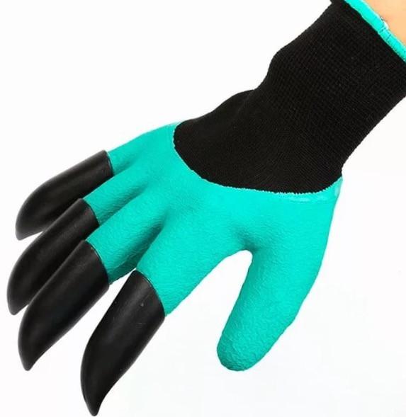 Cадовые перчатки с когтями для  сада и огорода.