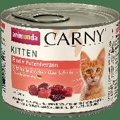 Консервы для котят с говядиной и сердцем индейки, Carny Kitten - 200 гр