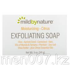 Mild By Nature, отшелушивающее мыло, с маслами марулы, таману и ши, с цитрусовым ароматом, 141 г (5 унций)