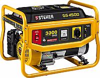 Бензиновый генератор STEHER, 3/3,3 кВт, однофазный, синхронный, щеточный (GS-4500)