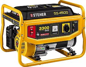 Бензиновый генератор STEHER (Штехер), 3/3,3 кВт, однофазный, синхронный, щеточный (GS-4500)
