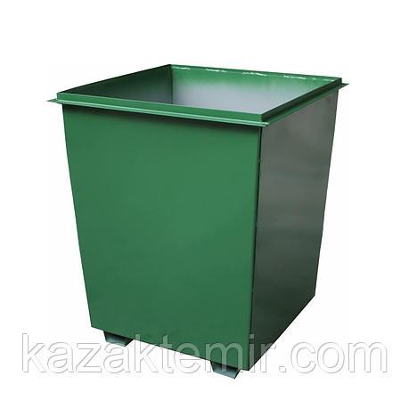 Мусорный контейнер 0,75 куб для погрузки, фото 2