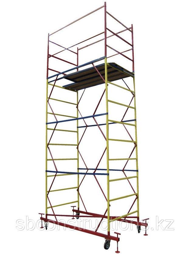 Строительная вышка тура для отделочных работ (леса строительные на колесах) 1х