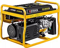 Бензиновый генератор STEHER, 6,5/7 кВт, однофазный, синхронный, щеточный, с электростартером (GS-8000Е)