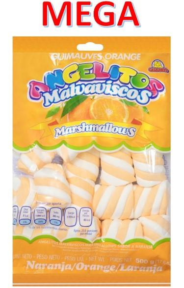 Маршмеллоу Гигант косички Апельсин 0,5кг Гуанди (12шт-упак)