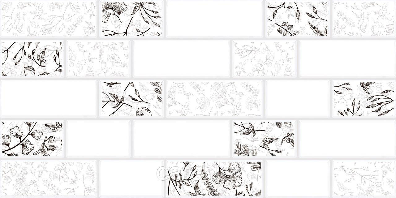Кафель | Плитка настенная 30х60 Мирабель | Mirabel 7Д белый
