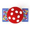 Песочница Азбука с крышкой и грибком ИО 5.01.10-01, фото 3