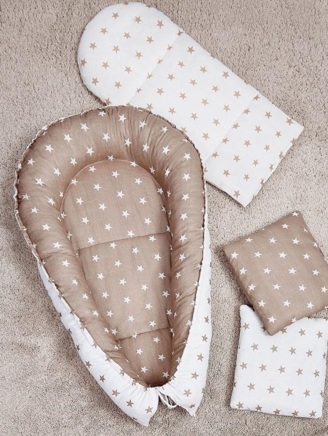 Гнездышко-кокон для новорожденных с матрасиком - фото 1