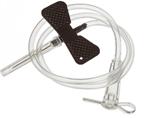 Игла-бабочка однократного применения размером: 22G*20мм (черный цвет)