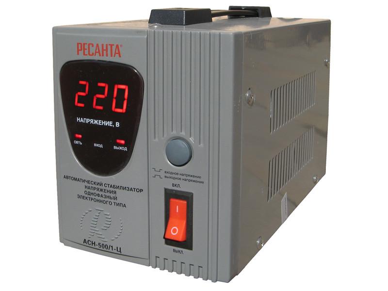 Стабилизатор напряжения Ресанта ACH-500/1-Ц-500 Вт