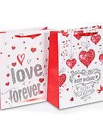 Пакет бумажный подарочный I Love You