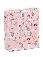 Пакет бумажный подарочный Балерина и Единорог
