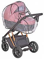 Дождевик для классической коляски из пленки ПВХ с вентиляционным окном на завязках, 424-5 Юкка