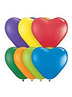 """Набор воздушных шаров PM 1462-5 """"Сердце"""" (2g) цвет в асс.12шт"""