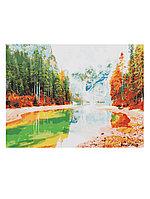 Раскрашивание на холсте 40*50 см по номерам Х-4720 Прозрачное горное озеро