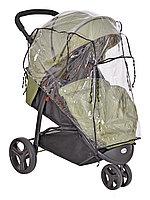 Дождевик для прогулочной коляски, из пленки ПВХ с вентиляционным окном на завязках, 425-5 Юкка