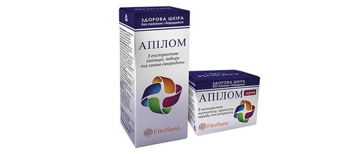Апилом - комплекс от папиллом и бородавок