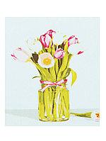 Раскрашивание на холсте 40*50 см по номерам Х-4740 Нежные тюльпаны
