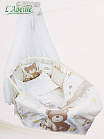 Комплект в кроватку(для овальной) L Abeille Мишка с зайкой
