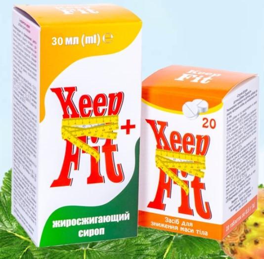 KeepFit (КипФит) - комплекс для похудения (капли + капсулы)