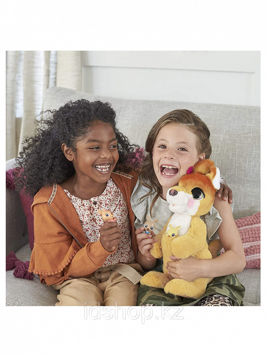 Мягкая игрушка FurReal Friends Кенгуру Джози и ее малыши E6724 - фото 3