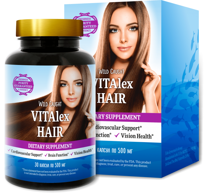 Vitalex Hair (Виталекс Хайр) - капсулы для красоты и здоровья для волос