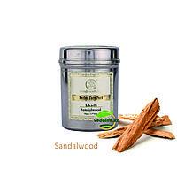 """Натуральная порошковая маска для лица """"Сандаловое дерево"""" (Herbal face pack Sandalwood KHADI), 50 г."""