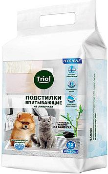 Пеленки для животных на липучках Triol, 60*60 см