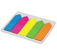 Набор пластиковых клейких закладок-стрелок, 5 цветов