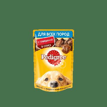 Влажный корм для собак Педигри Говядина в соусе