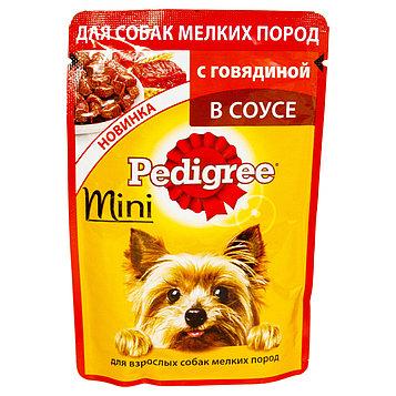 Влажный корм для собак мелких пород Педигри, Говядина в соусе
