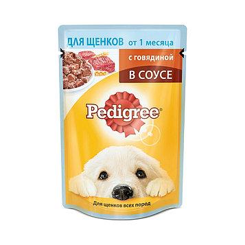 Влажный корм для щенков Педигри Говядина в соусе