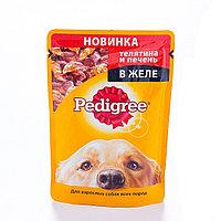 Влажный корм для собак Педигри Телятина и печень в желе