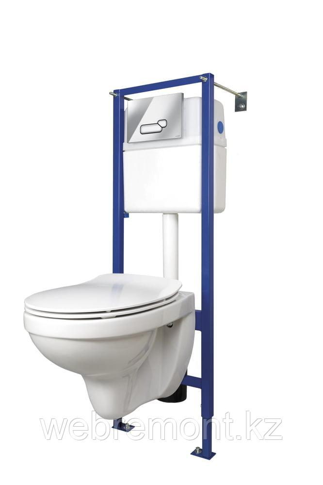 Комплект DELFI (наст.с сид.slim DP lift+инст VECTOR с кн ACTIS, хром глянцевый )