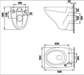 Комплект DELFI (наст.с сид.slim DP lift+инст VECTOR с кн ACTIS, хром глянцевый ), фото 2