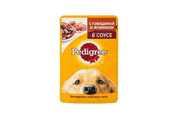 Влажный корм для собак Педигри Говядина с ягнёнком в соусе