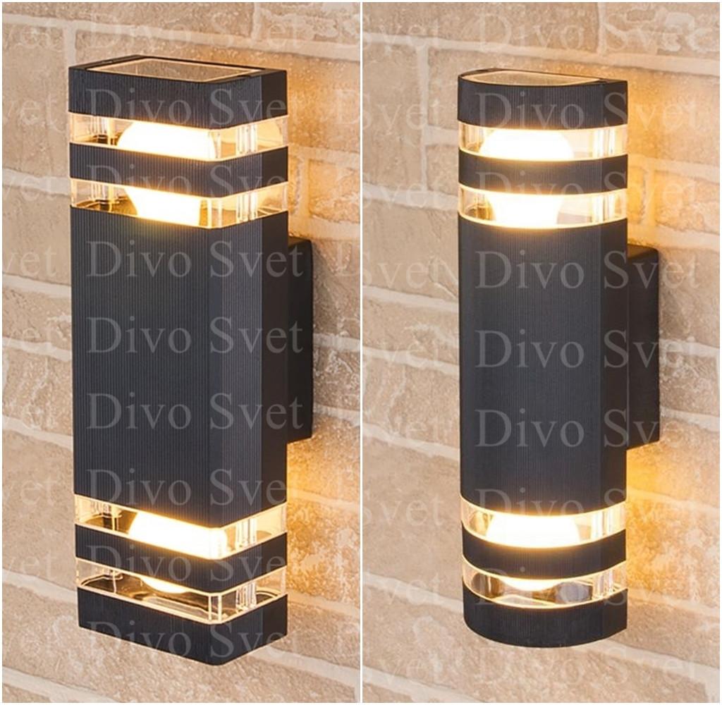 """Корпус светильника """"Techno"""" двухсторонний с Е27, настенный, декоративный, уличный, для подсветки стен, заборов"""
